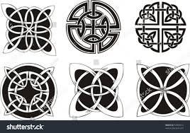 six ornamental knot dingbat designs celtic stock vector 67649413