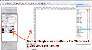 sketchup layout line color layout pattern fill hatching mastersketchup com