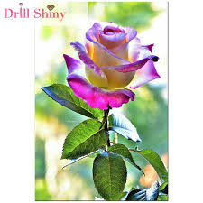 multicolor roses drill shiny 5d diy diamond painting multicolor flower