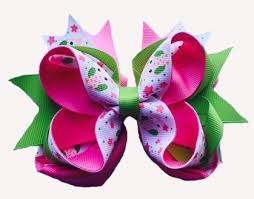 ribbon for hair bows layered printed ribbon hair bows