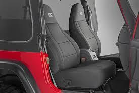 seat covers jeep wrangler black neoprene seat cover set for 2003 2006 jeep wrangler tj