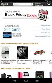 black friday amazon app new app tablet friendly amazon mobile hits the play store