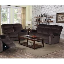 Sofa And Loveseats Sets Izabella Dark Chocolate Corduroy 2 Pc Reclining Sofa And Loveseat