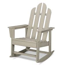 Rocking Chair Shop Polywood Long Island Sand Plastic Rocking Chair At Lowes Com