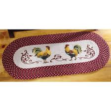 collections etc country rooster kitchen braided runner for the