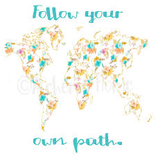 follow your own path inspirational quotes travel typography