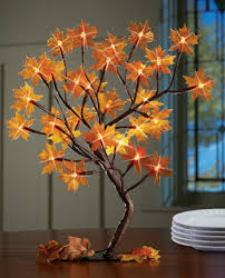 lighted maple tree branches fall decoration by