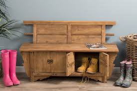 Boot Bench With Storage Reclaimed Elm Bench Seat With Storage Welly Boot Bench