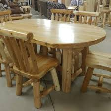 Log Dining Room Table Rustic Dining U0026 Seating Archives Cretens Furniture
