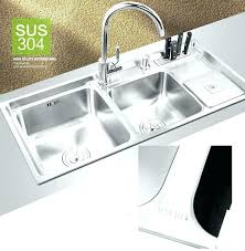 undermount kitchen sink with faucet holes undermount kitchen sinks canadian tire corner stainless steel canada