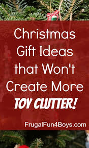 christmas gift ideas for a clutter free christmas