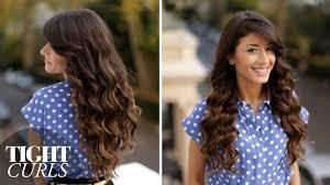 tight curls hair tutorial youtube