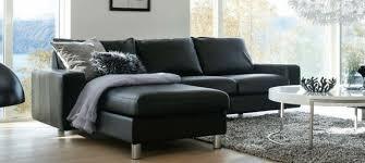 stressless canapé decoration confort élégance fauteuil stressless canapé noir cuir
