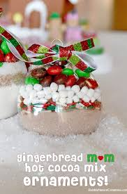gingerbread m m mix ornaments sugar cookie mix and cocoa mix