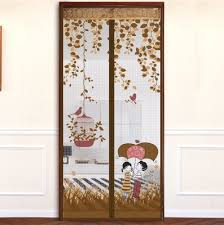 Magnetic Curtains For Doors Coffee Rain Romance Decorative Kitchen Kids Room Divider Sun Shade