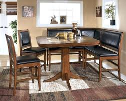 black dining table with bench corner breakfast nook set northmallow co