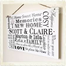 new home gift plaque new home gift housewarming personalised sign keepsake w58