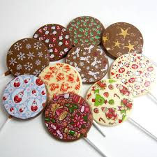 christmas chocolate christmas chocolate lollies set of 10 by chocolate by cocoapod