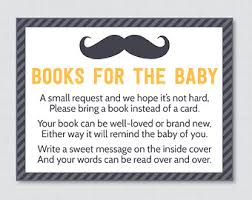 Baby Shower Instead Of A Card Bring A Book Elephant Baby Shower Bring A Book Instead Of A Card Invitation