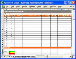 Microsoft Excel Business Templates How To Define Business And Business Requirements