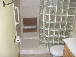 bathtub to glass block walk in shower conversion shower tub