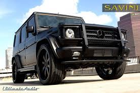 matte black mercedes g class g wagen savini wheels