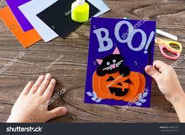 child create birthday card halloween paper stock photo 460496215