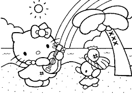 coloring kitty kids coloring