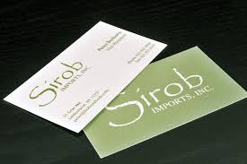 luxury photograph of two sided business cards business cards