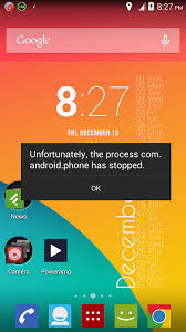 unfortunately the process android phone has stopped solved process android phone has stopped working error