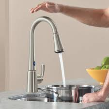 Touch Activated Kitchen Faucets by Kitchen Bar Faucets Touch Kitchen Faucet Delta Combined Polished