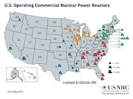 Map Of The Eastern United States by Nrc Map Of Power Reactor Sites