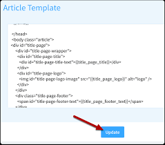 how to customize the html used for article and manual templates