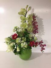 Vases With Fake Flowers Silk Flower Arrangements Floral Decor Ebay