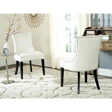 Leather Dining Chairs Canada White Leather Dining Chairs Tahrirdata Info