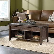 sauder carson forge coffee oak extendable coffee table 420421