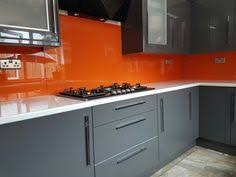 orange kitchen ideas colourx orange backpainted glass kitchen splash back home ideas