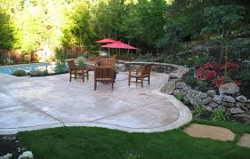 Patio Concrete Designs Concrete Patio Ideas Backyard Home Decorating Interior Design