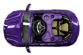 vehicle top view mercedes cla45 12v kids ride on car mp3 usb metallic purple