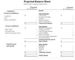 Pro Forma Balance Sheet Template How To Prepare Projected Balance Sheet Accounting Education