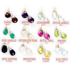 birthstones wire wrapped gemstones birthstones add on stone personalized charm