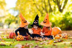 Pumpkin Halloween Costume Kids With Pumpkins In Halloween Costumes Stock Photo Image 99313929