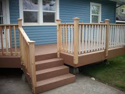 Exterior Stair Railing by Outdoor Stair Railing Decks Ps And How To Build Deck Stair Railing