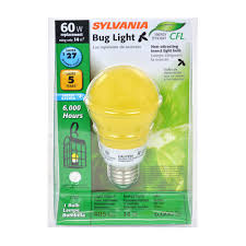 no bug light bulb sylvania 14 watt compact fluorescent bug light bulb