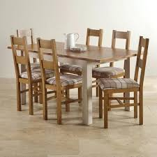 solid oak dining table and 6 chairs dining room furniture oak extending table and 6 chairs oak dining