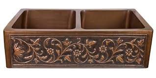 Copper Kitchen Sinks In A Variety Of Configurations And Finishes - Farmhouse double bowl kitchen sink