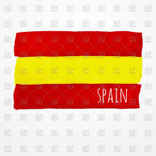 hand drawn watercolor spain flag vector clipart image 70203