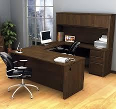 u shaped workstation desks bestar prestige u shaped desk and hutch