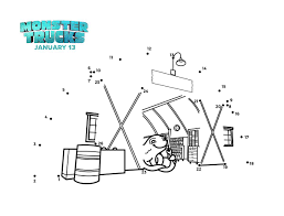 monster trucks connect the dots coloring page mama likes this