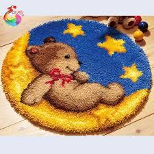 Wool Hook Rug Kits Aliexpress Com Buy Carpet Embroidery Cartoon Bear Latch Hook Rug